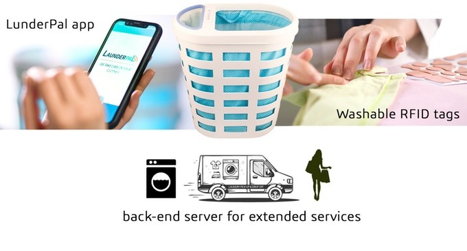 LaunderPal | The smart laundry basket that takes care of your clothes