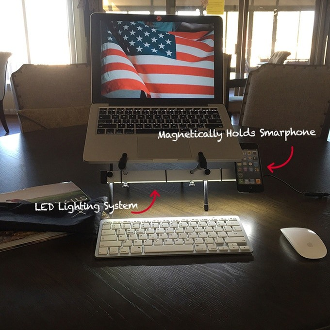 LED lighted stand Fits all! – lumiXstand