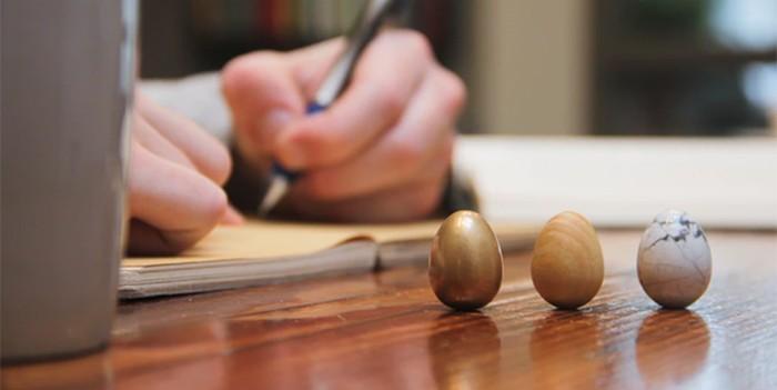 The Thinking Egg symbolized life, wealth and promise.