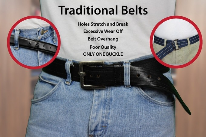 CLAC Belt The Most Attractive Belt Ever, No Holes, No Buckle Needed