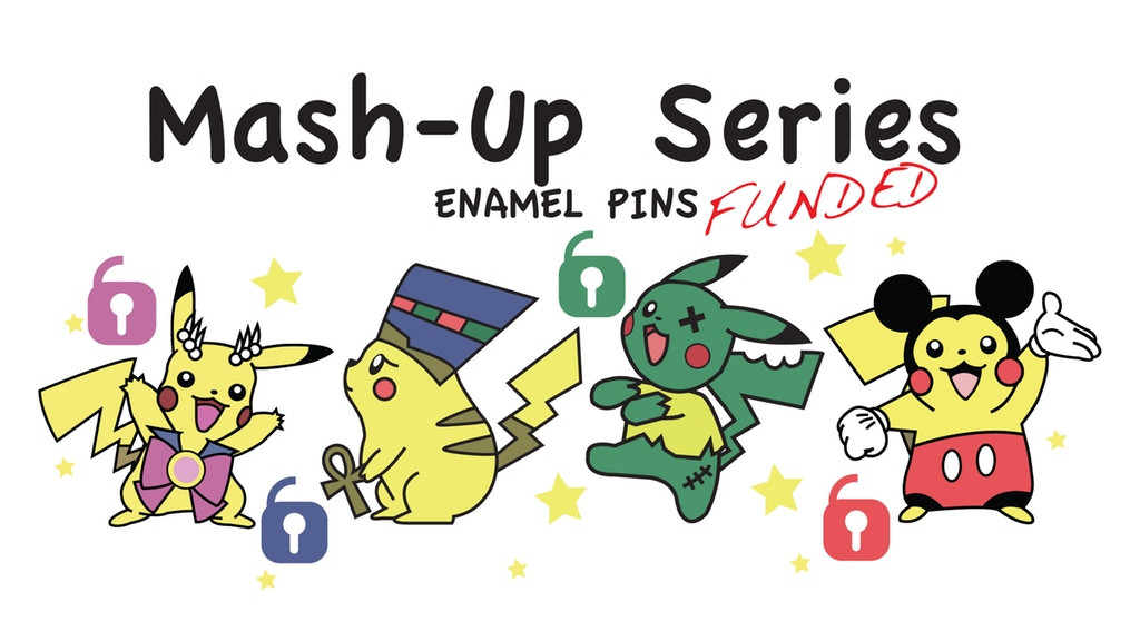 Mash-Up Series Hard Enamel Pins - 1.25 Inches
