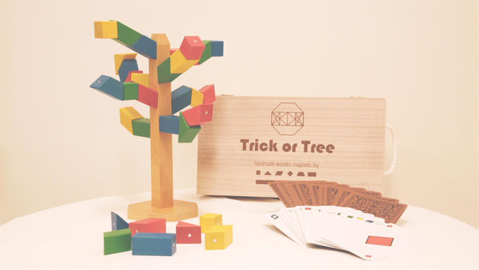 Trick or Tree : Handmade Magnetic Wooden Blocks Toy Game